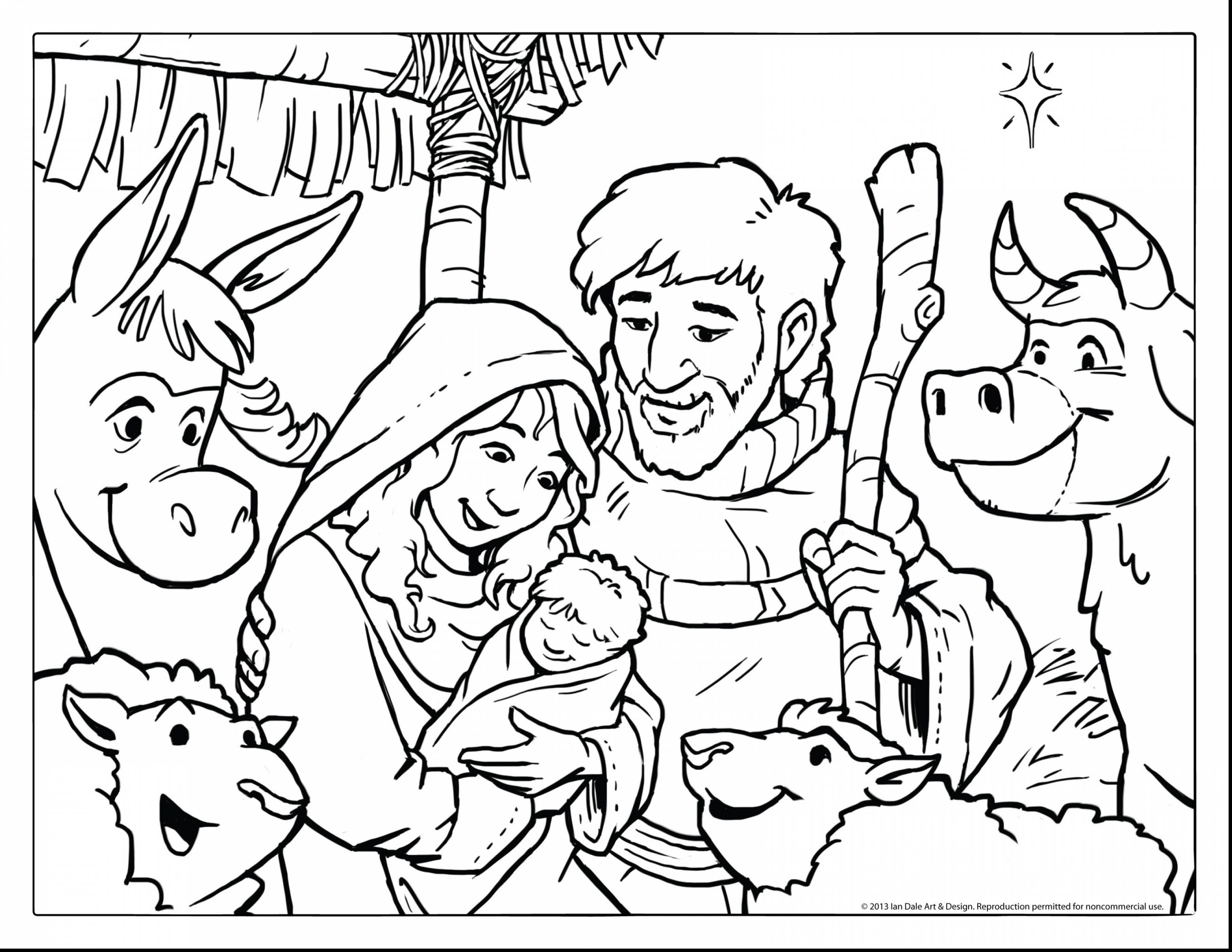Christmas Nativity Coloring Pages Printable With For Adults To Print Free