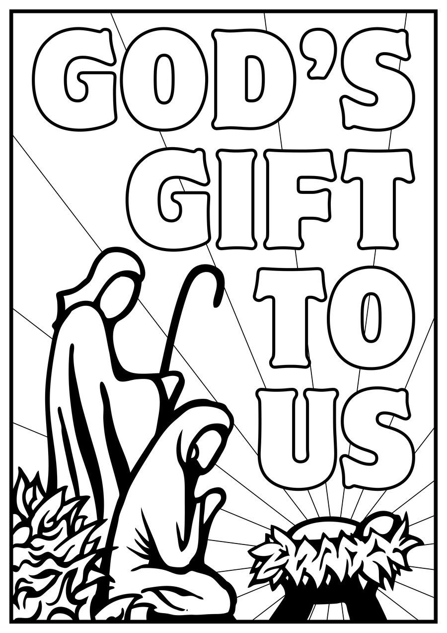 Christmas Nativity Coloring Pages Printable With Free Lds