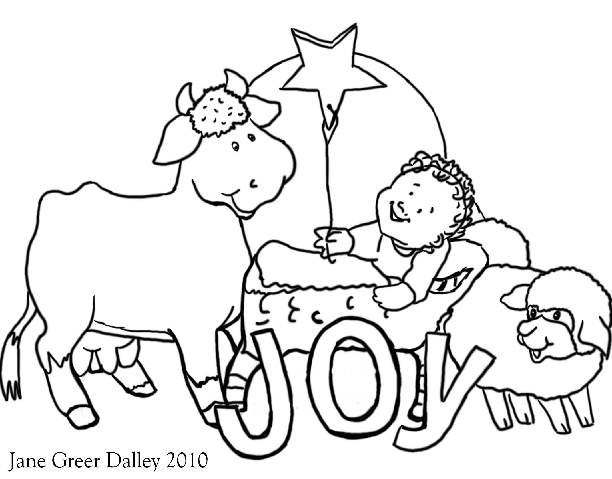 Christmas Nativity Coloring Pages Printable With Preschool Kids Free For