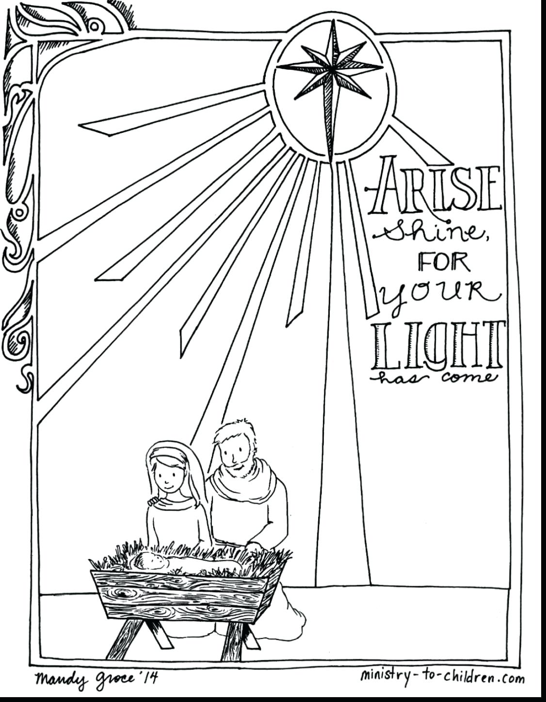 Christmas Nativity Coloring Pages To Print With Collection Of Printable Download