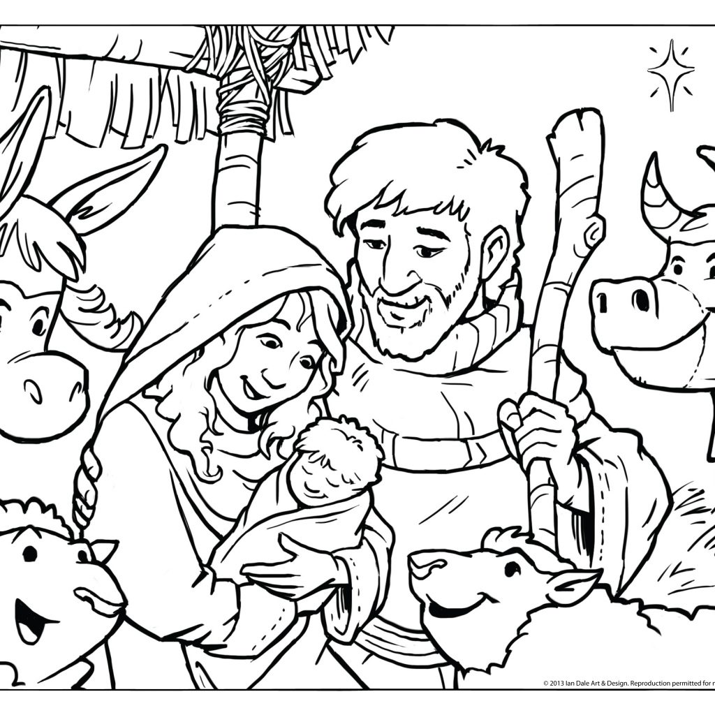 Christmas Nativity Coloring Pages To Print With Free Books