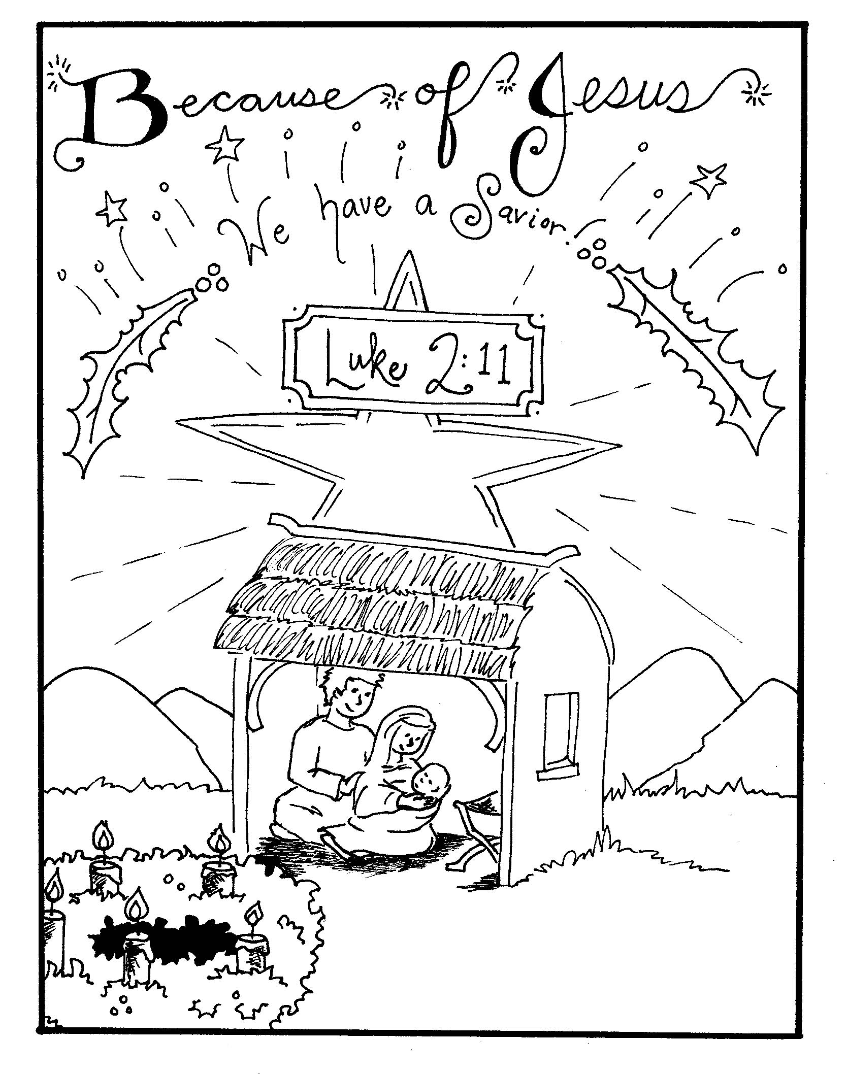 Christmas Nativity Coloring Pages To Print With Free Printable For Kids Best