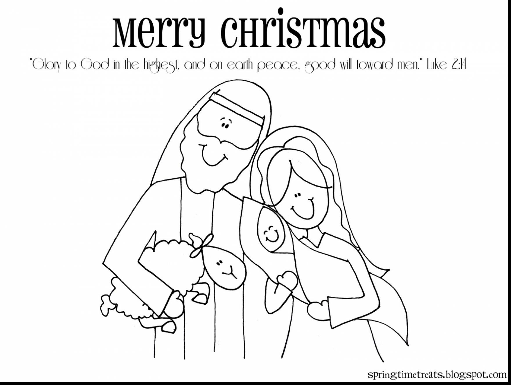 Christmas Nativity Coloring Pages To Print With Lds Gallery Free Books