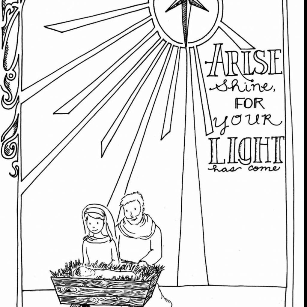 Christmas Nativity Coloring Pages With For Preschool 2518701