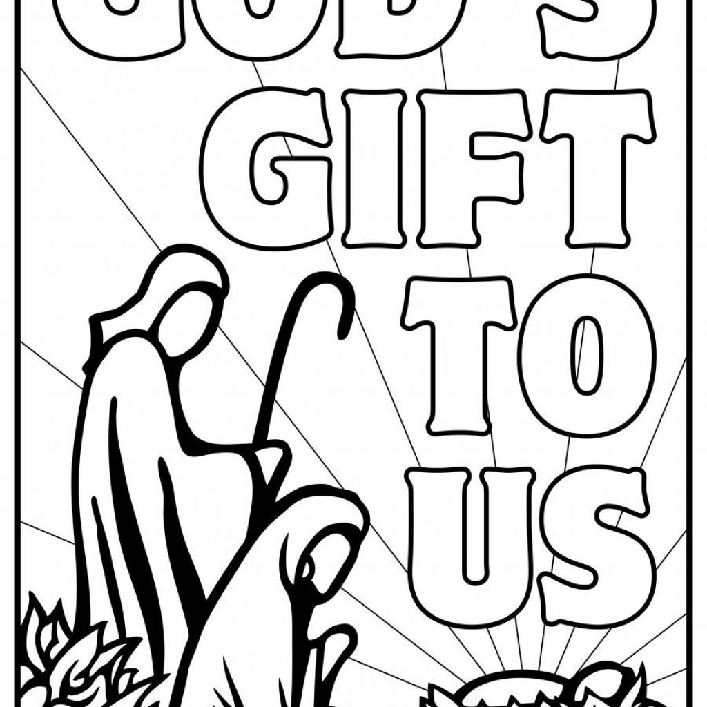 Christmas Nativity Coloring Pages With Printable Free Lds