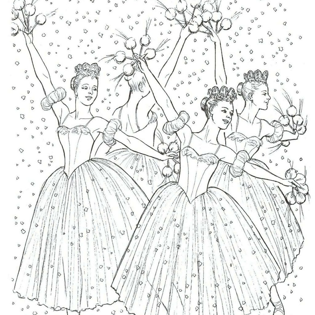 Christmas Nutcracker Coloring Pages With Ballet Page