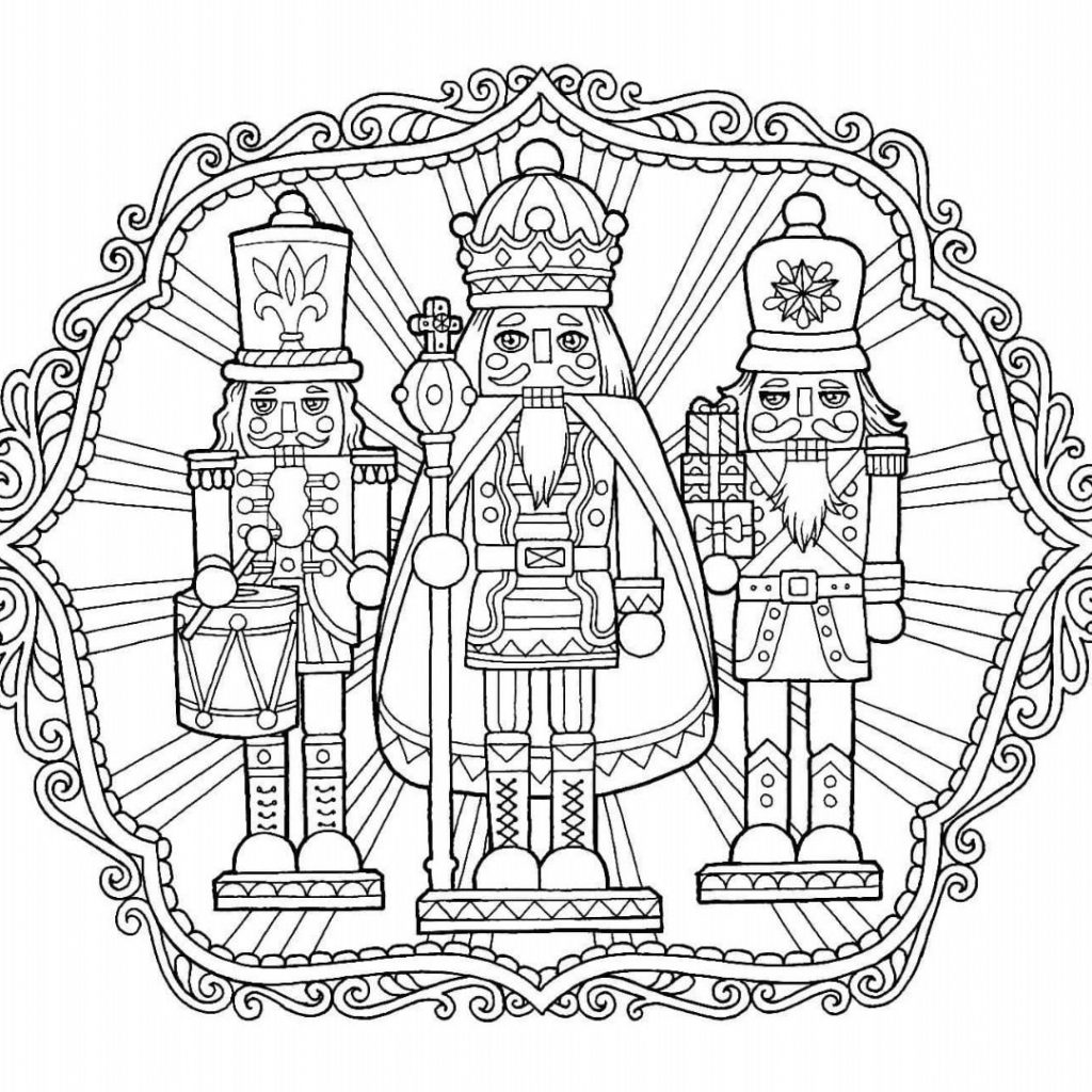 Christmas Nutcracker Coloring Pages With Page Color Pinterest