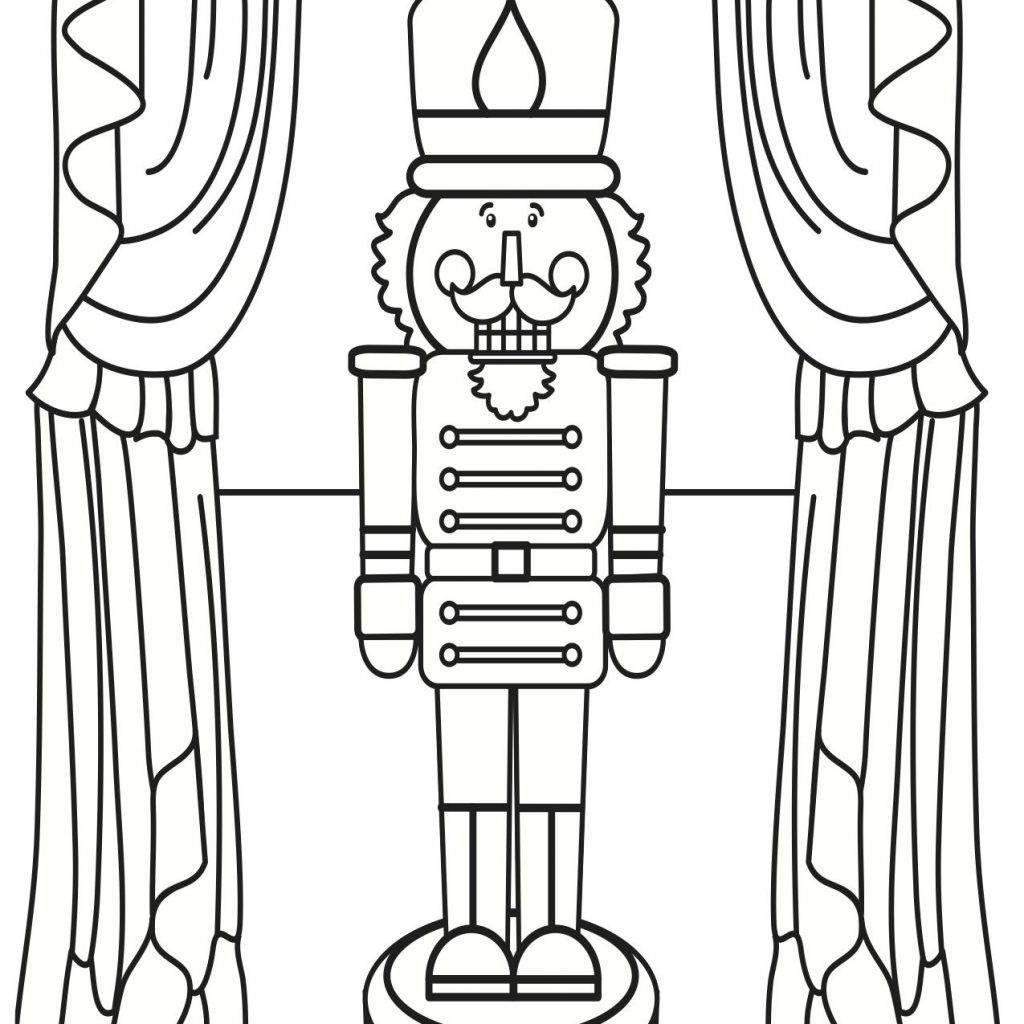 Christmas Nutcracker Coloring Pages With Page Kids Wood Crafts