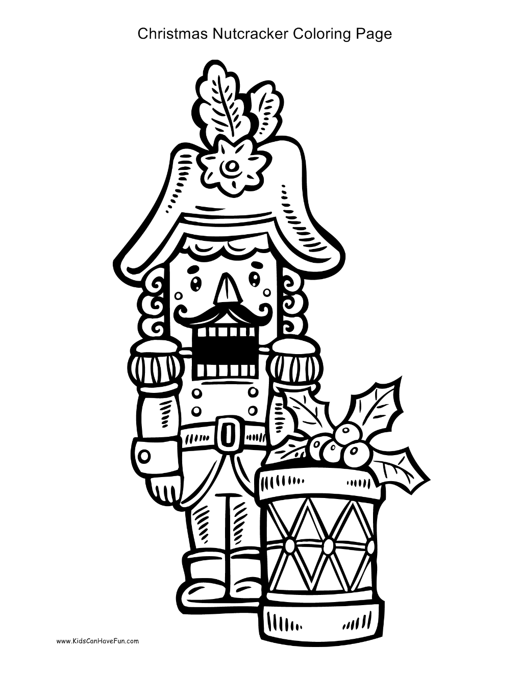 Christmas Nutcracker Coloring Pages With Page Pinterest