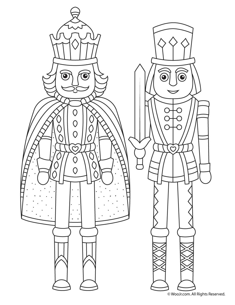 Christmas Nutcracker Coloring Pages With Page Woo Jr Kids Activities