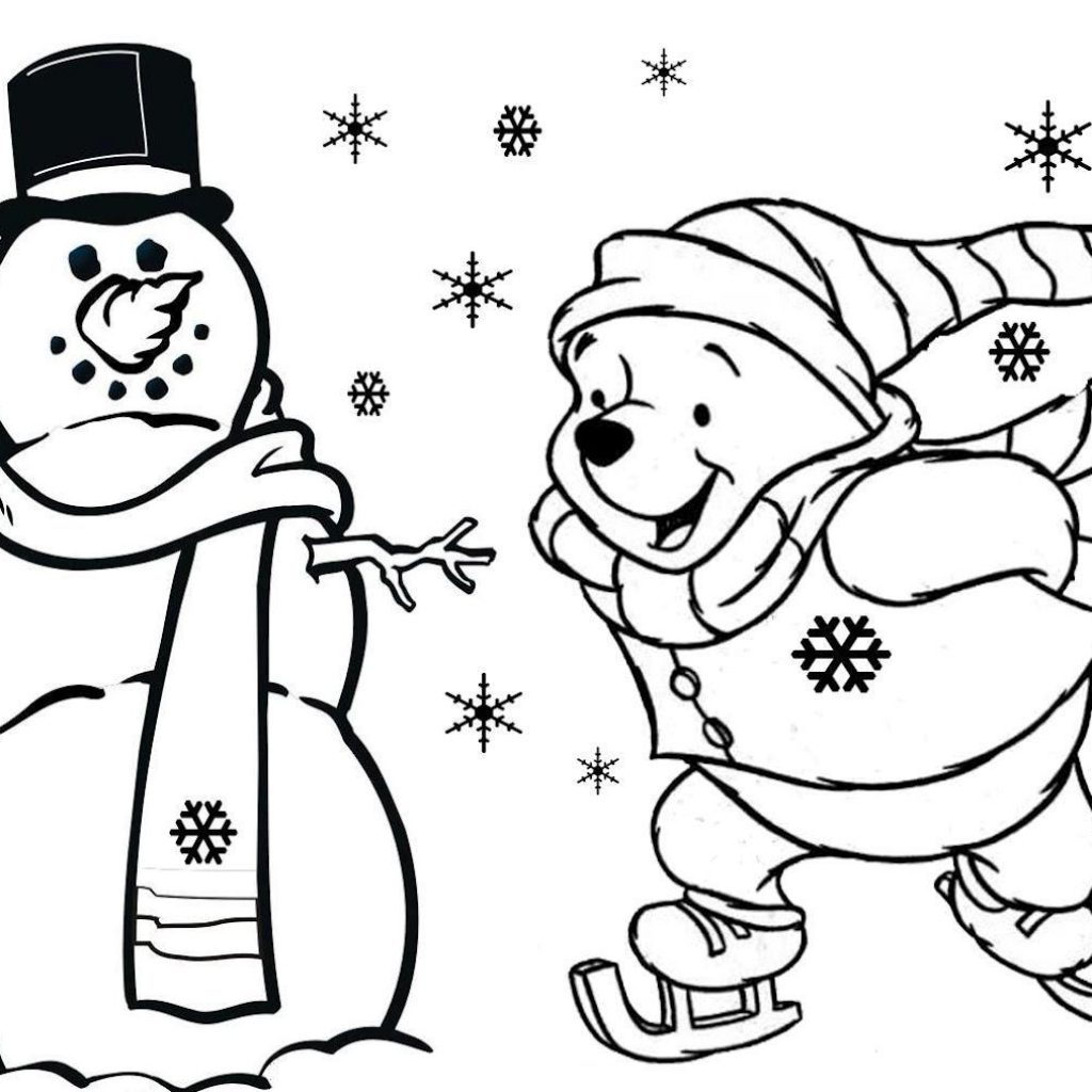 Christmas Online Coloring Pages Free With Winnie The Pooh S For Kidsfd59 Printable