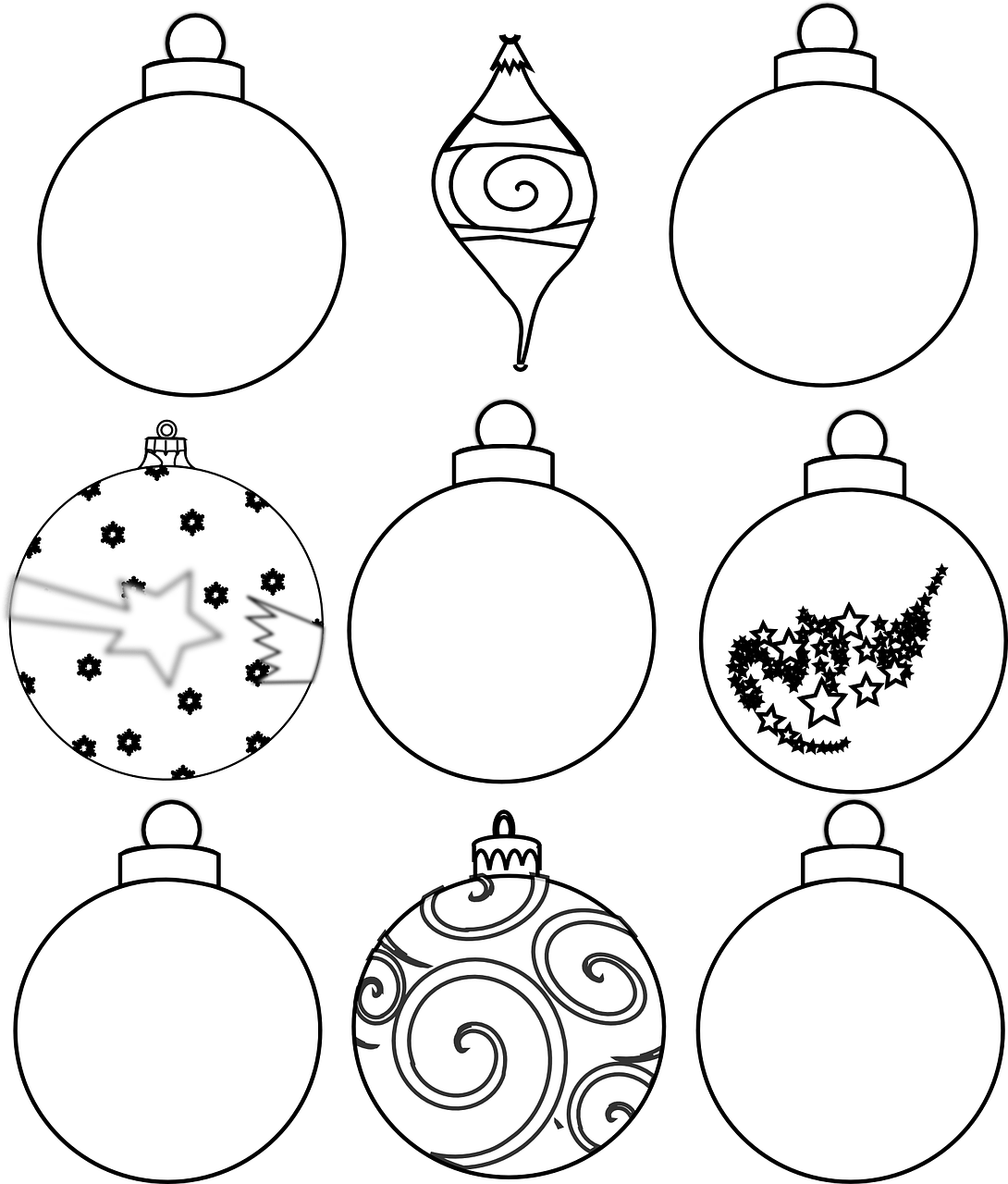 Christmas Ornament Coloring Sheet With Colour And Design Your Own Ornaments Printables