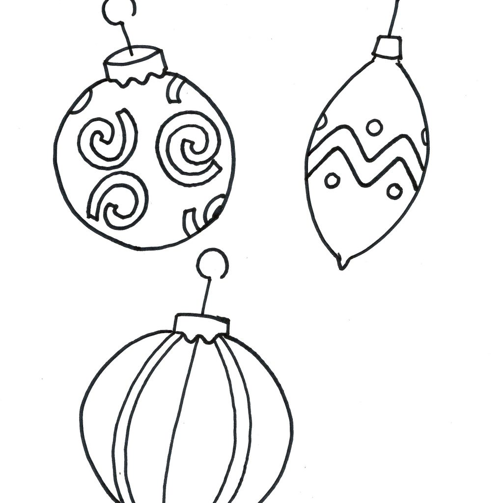 Christmas Ornament Coloring Sheet With Printable Pages Download For Kids