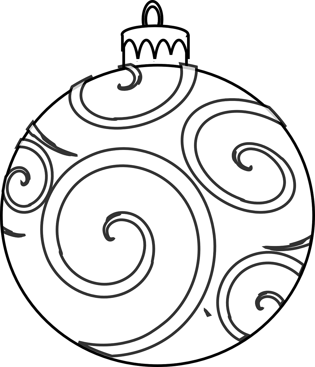 Christmas Ornament Coloring Sheet With Vacation