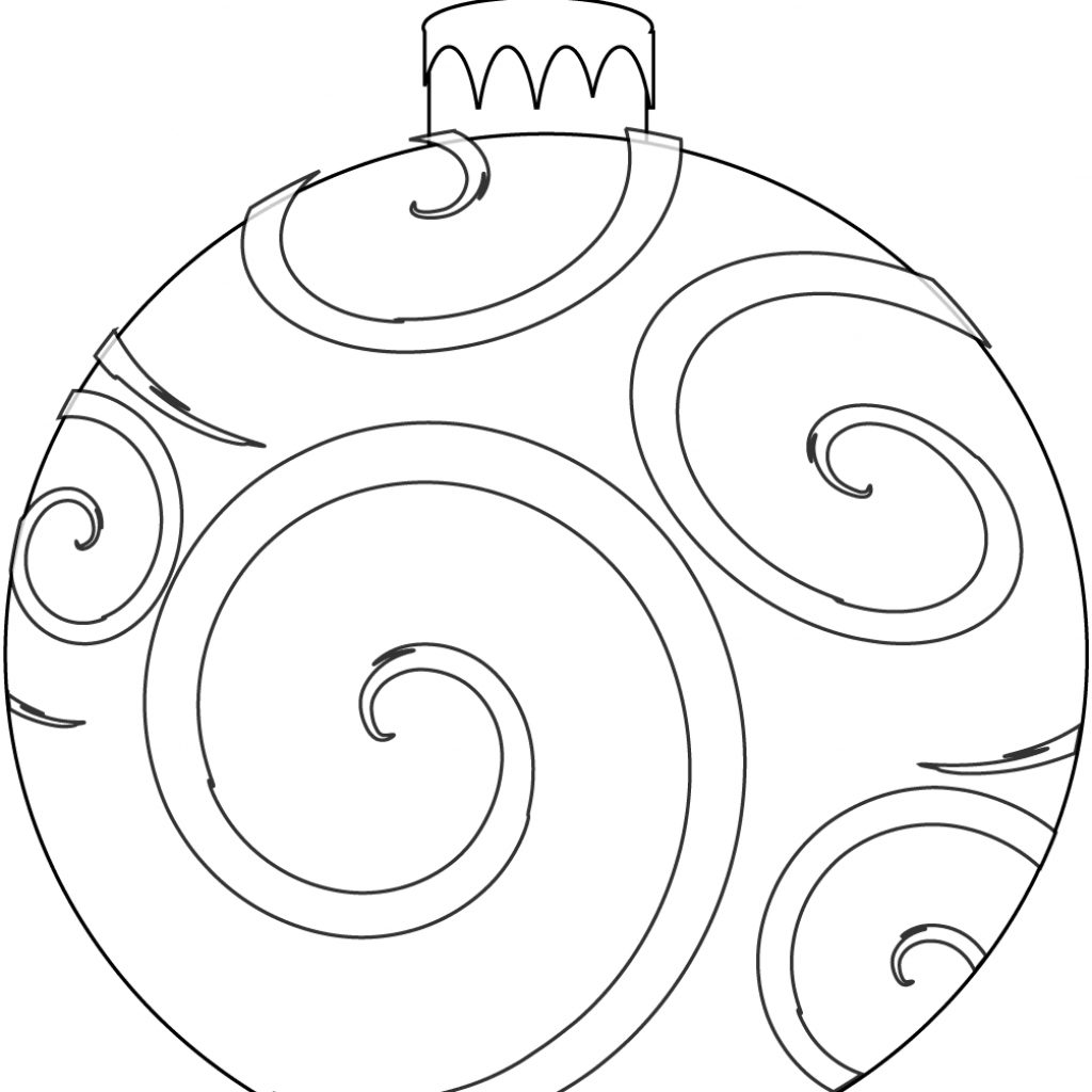 Christmas Ornaments Coloring Pages For Adults With Awesome Design Free