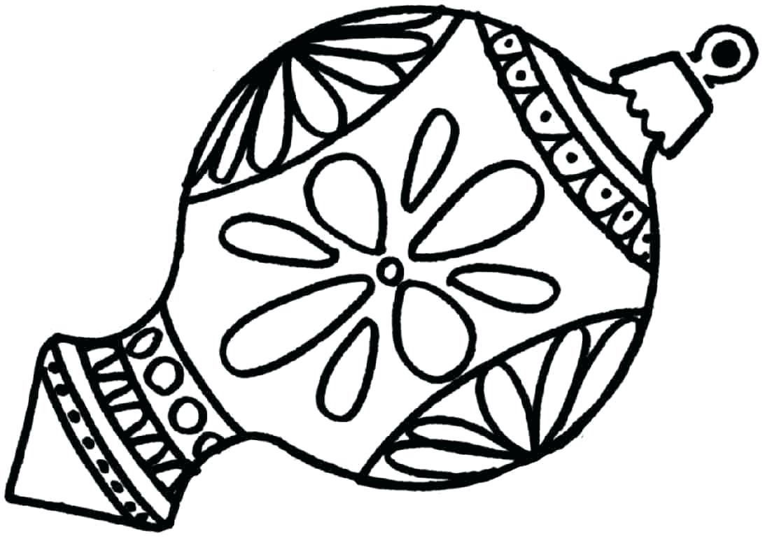 Christmas Ornaments Coloring Pages For Adults With Collection Of Download Them