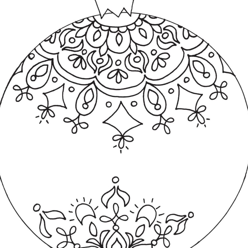 Christmas Ornaments Coloring Pages For Adults With Free Printable Diy Craft Projects