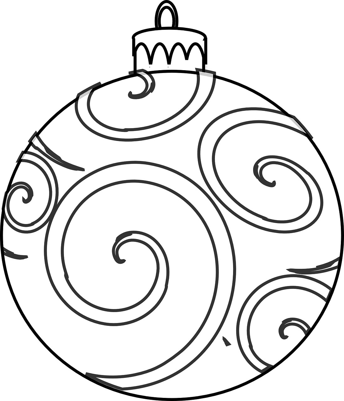 Christmas Ornaments Coloring Pages For Adults With Ornament Wallpapers Wide Inside Csad Me