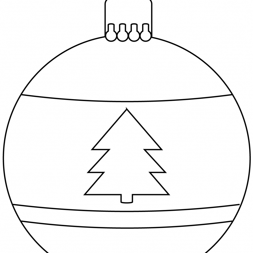 Christmas Ornaments Coloring Pages Printable With Bauble Ornament Page Free