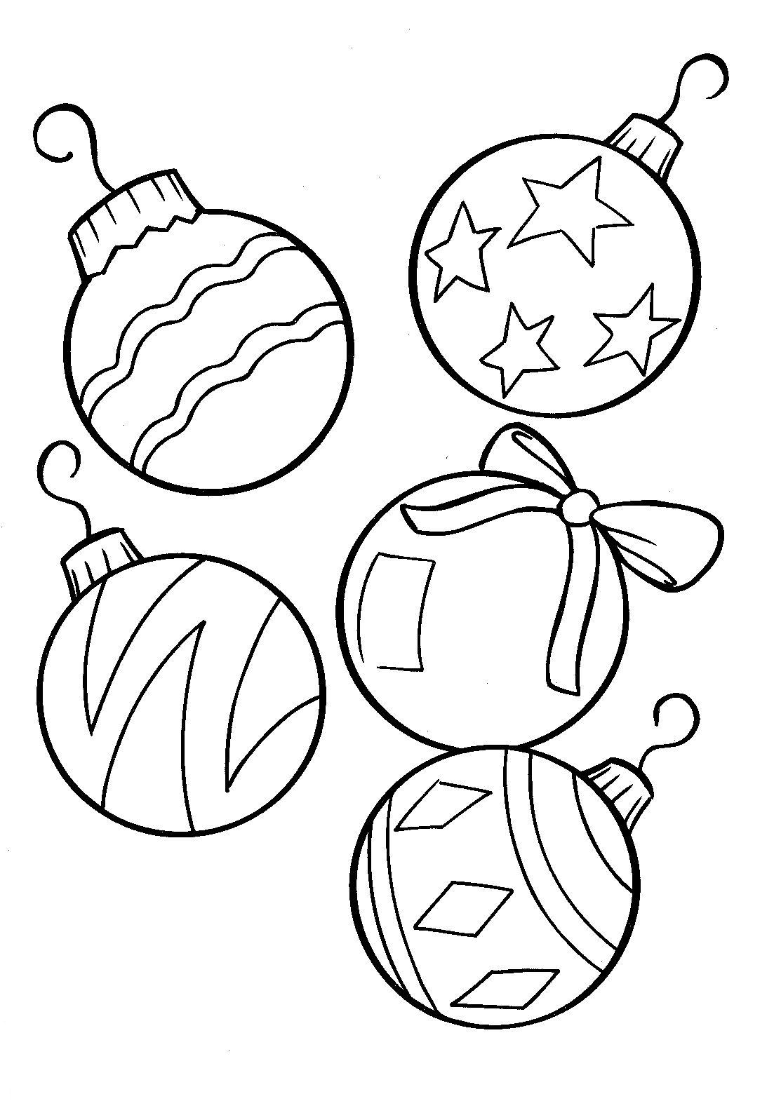 Christmas Ornaments Coloring Pages Printable With Ornament Is Great And Very Nice Page