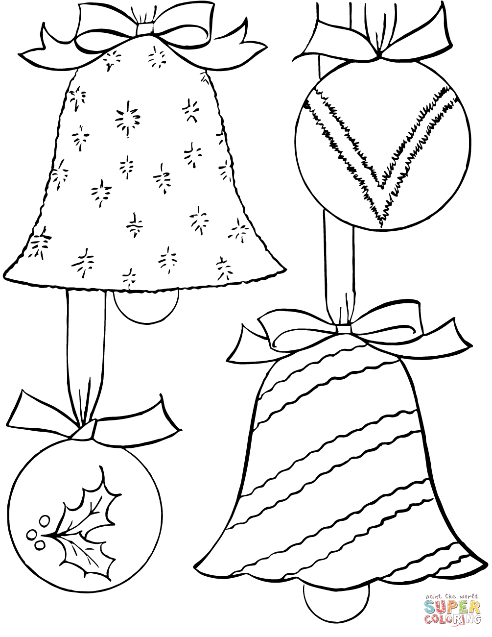 Christmas Ornaments Coloring Pages With Page Free Printable