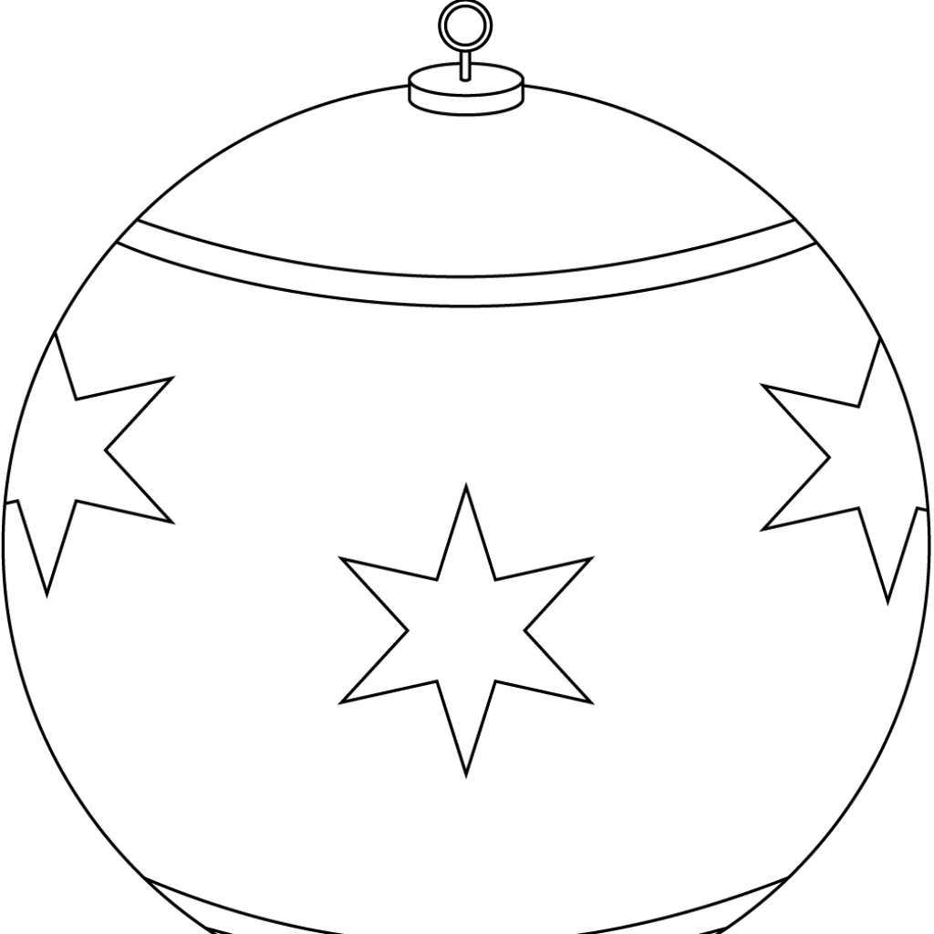 Christmas Ornaments Coloring Pages With Round Ornament Page Free Printable