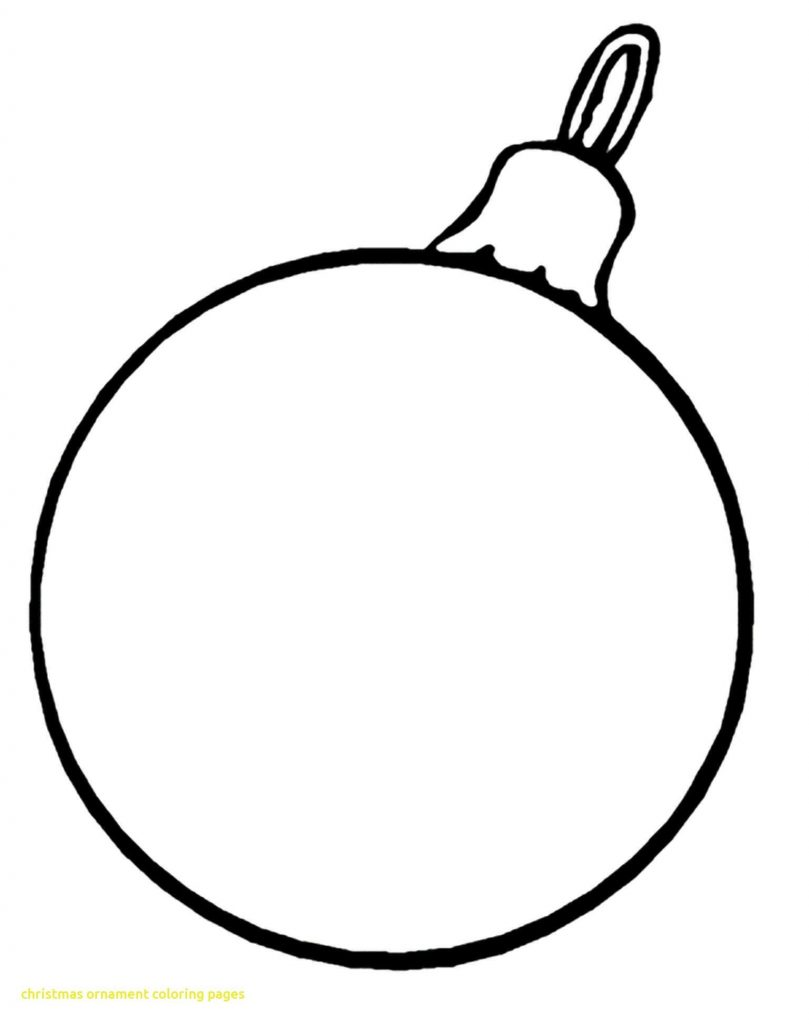Christmas Ornaments Coloring Pages With Worksheets Save