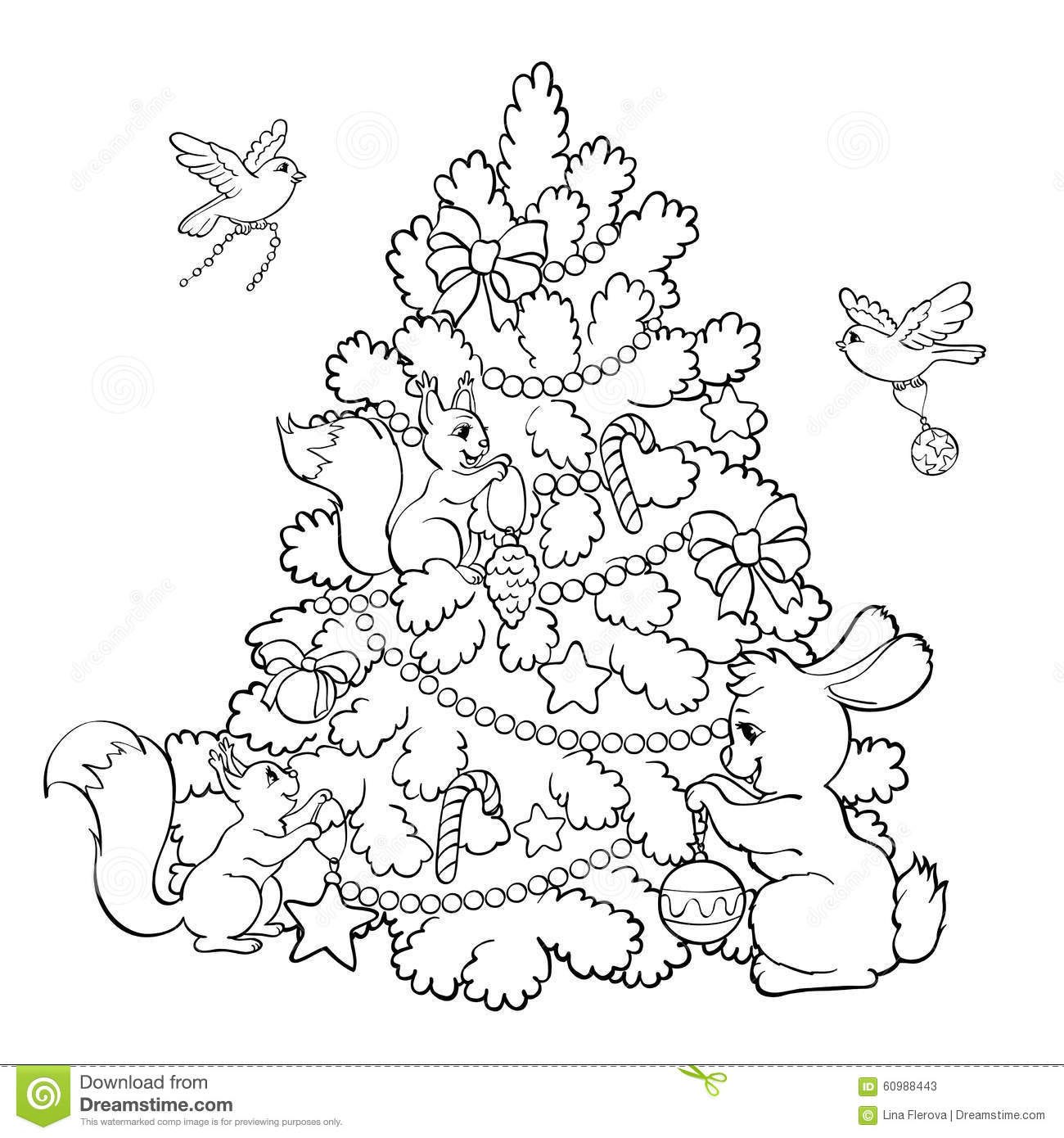 Christmas Rabbit Coloring Pages With Animal Colouring