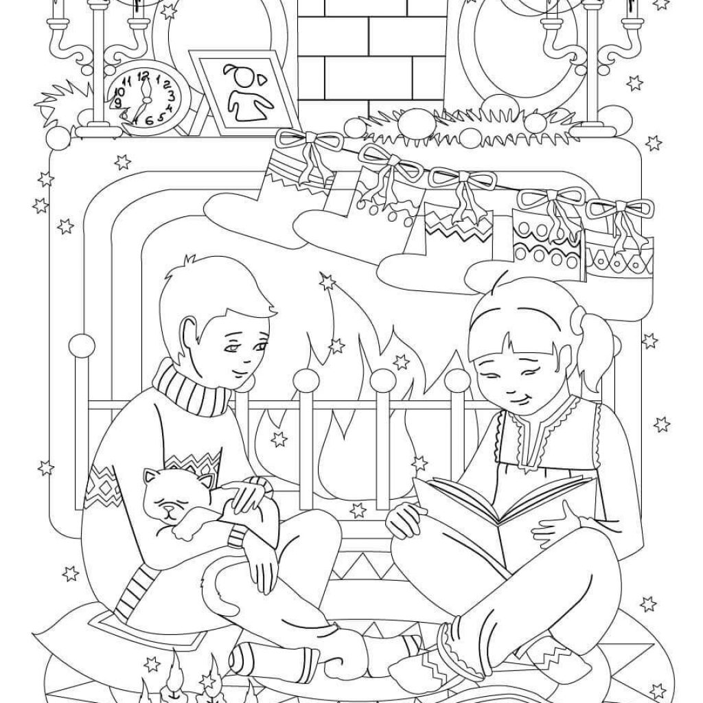 christmas-reading-coloring-pages-with-eve-free-library