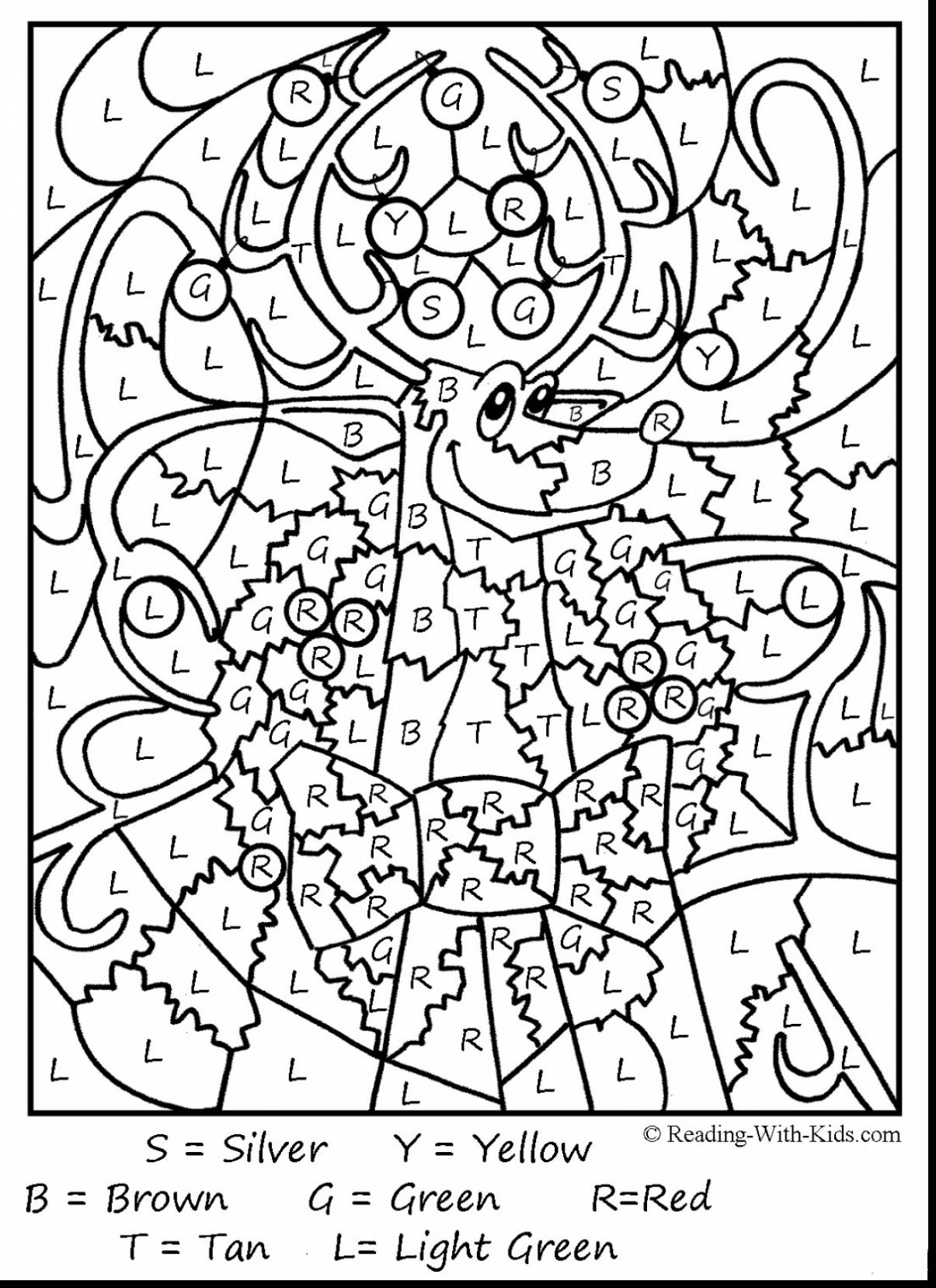 Christmas Reading Coloring Sheets With By Number 2456