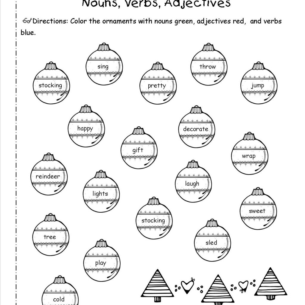 Christmas Reading Coloring Worksheets With And Printouts