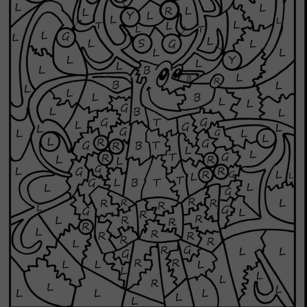 Christmas Reading Coloring Worksheets With Color Pages Best By Number