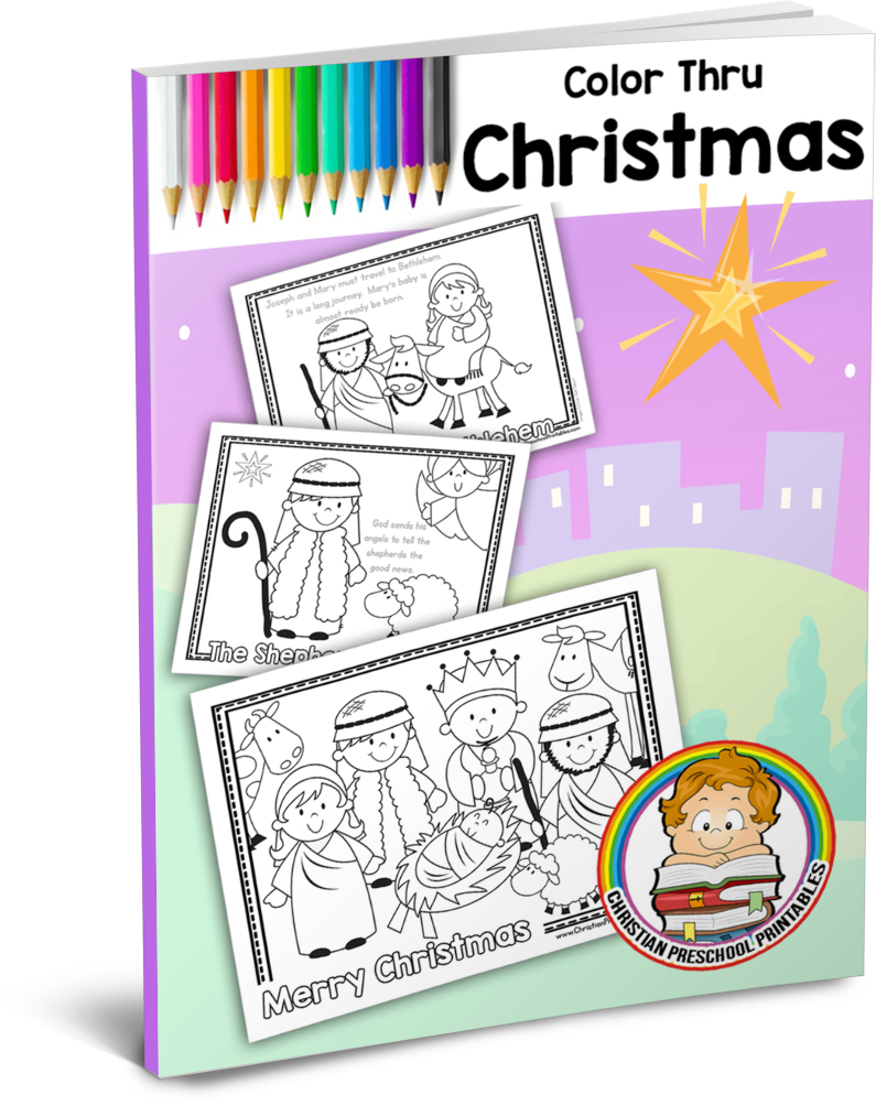 Christmas Reading Coloring Worksheets With Color Through The Story Free Homeschool Printables And