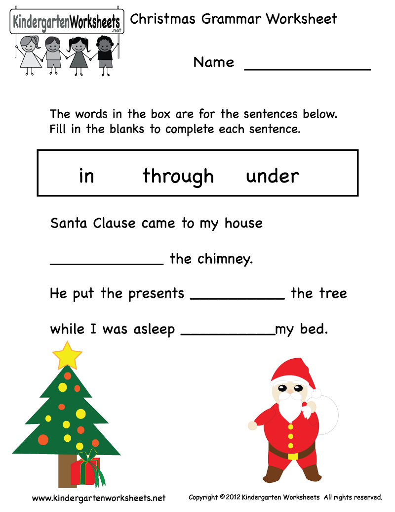 Christmas Reading Coloring Worksheets With Free Kindergarten Download Them And