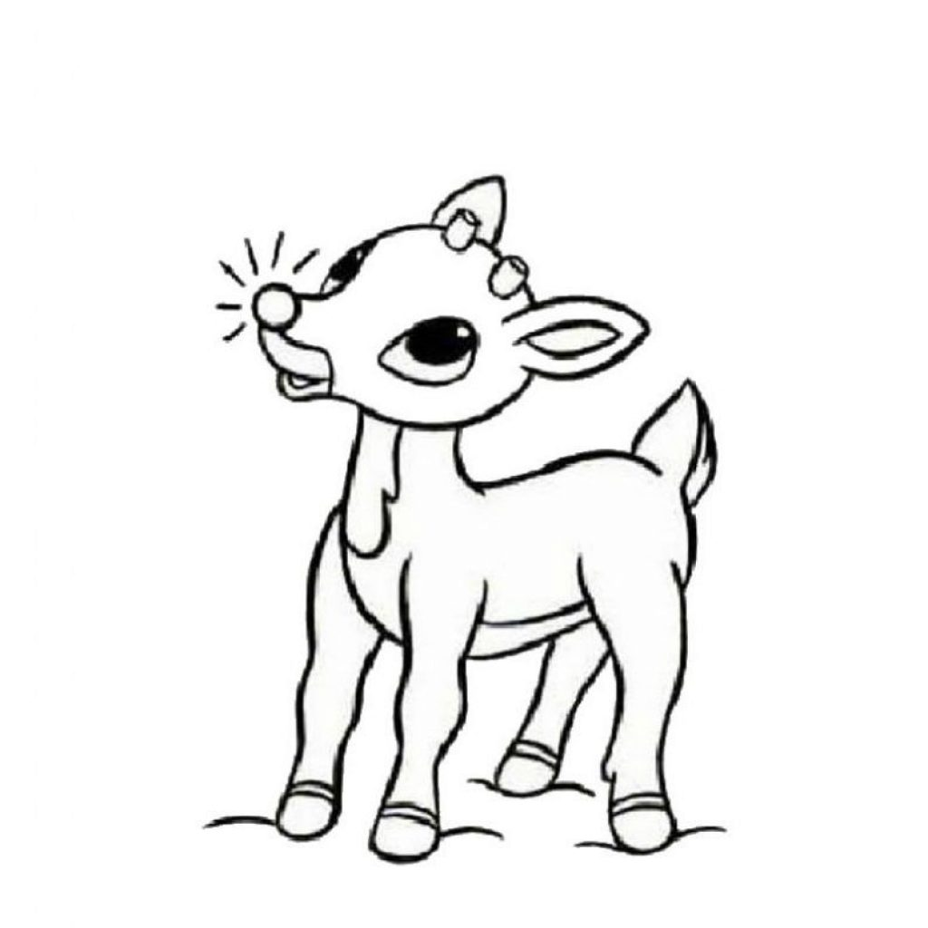 Christmas Reindeer Coloring Pages Printable With Free For Kids Kid S Crafts
