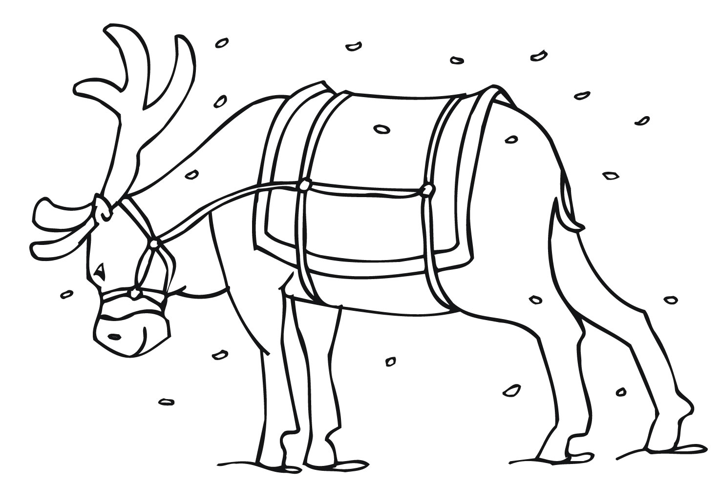 Christmas Reindeer Coloring Pages Printable With Free For Kids