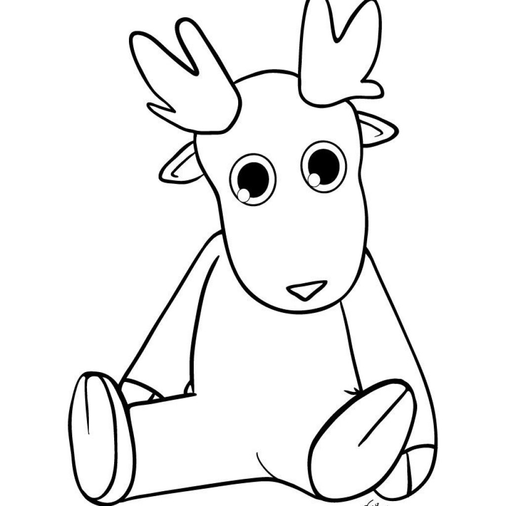 Christmas Reindeer Coloring Pages With Can Choose More From