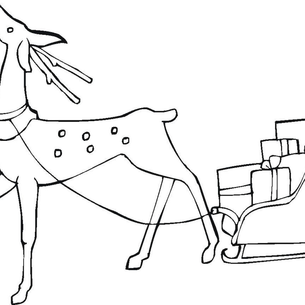 Christmas Reindeer Coloring Pages With Linkcity 017 Print Free Online