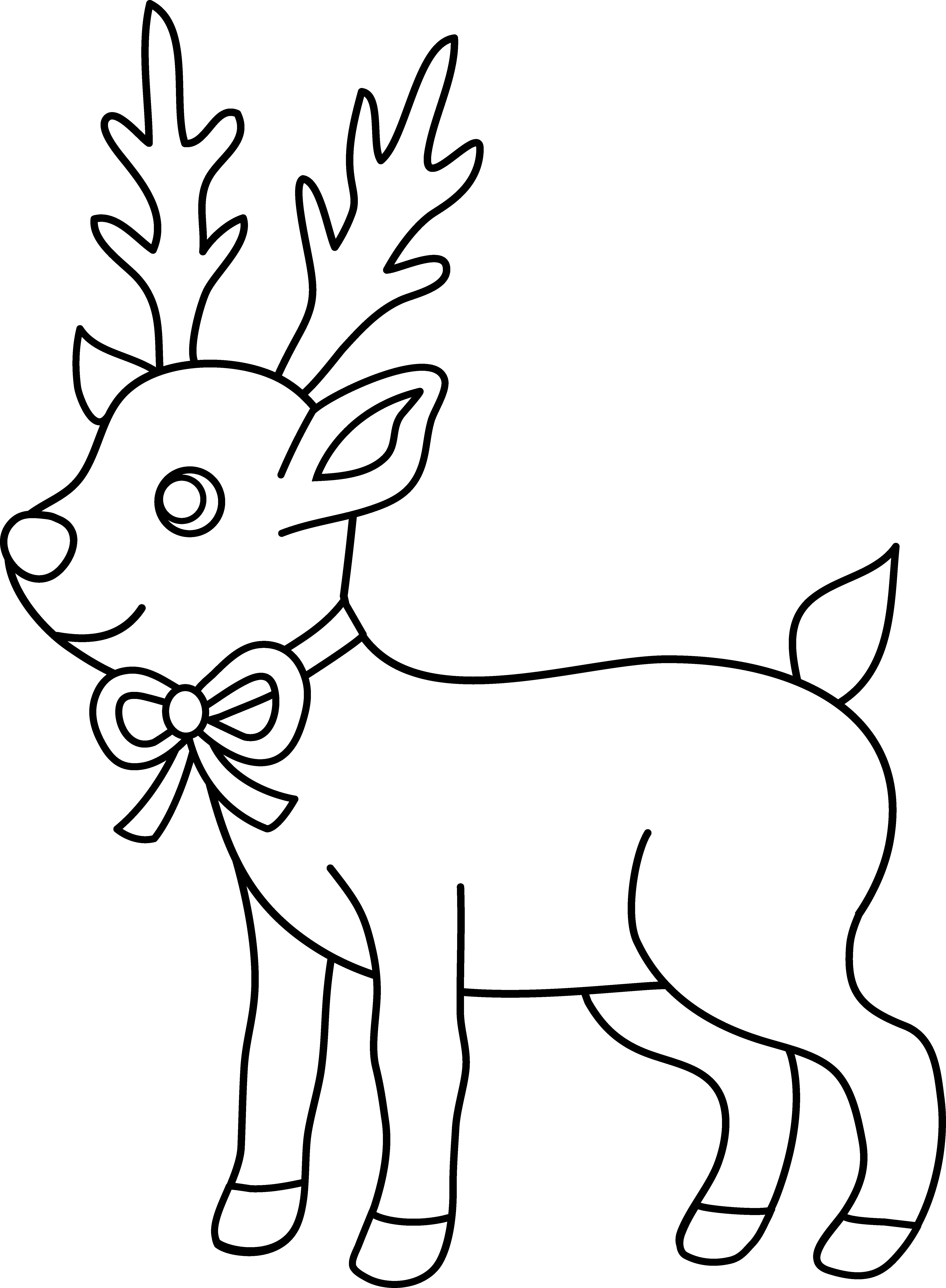 Christmas Reindeer Coloring Pages With Page Free Clip Art Outstanding Clipart
