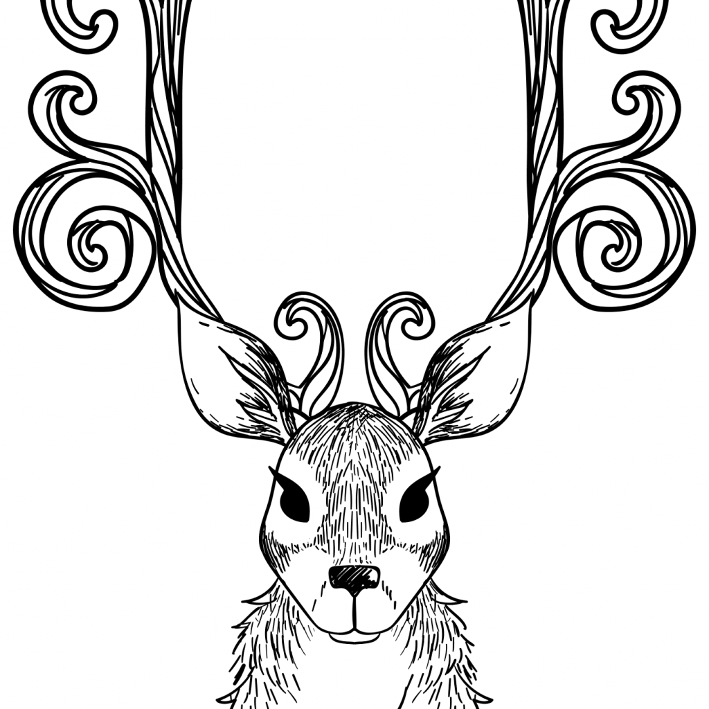 Christmas Reindeer Coloring Pages With Page Free Printable