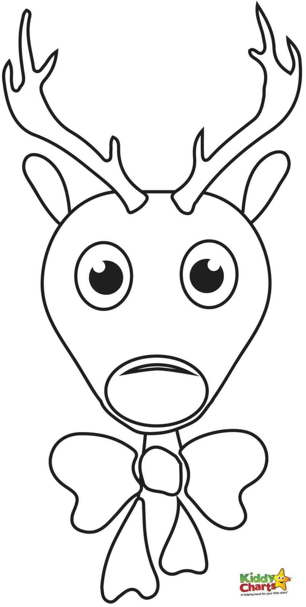Christmas Reindeer Coloring Sheets With New Post Cute Pages Xmast Pinterest