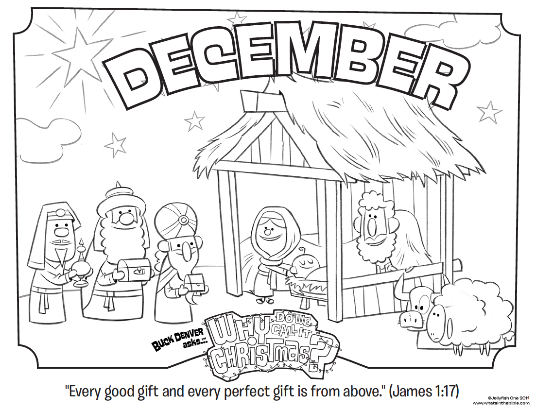 Christmas Religious Coloring Pages With December Page James 1 17 Whats In The Bible
