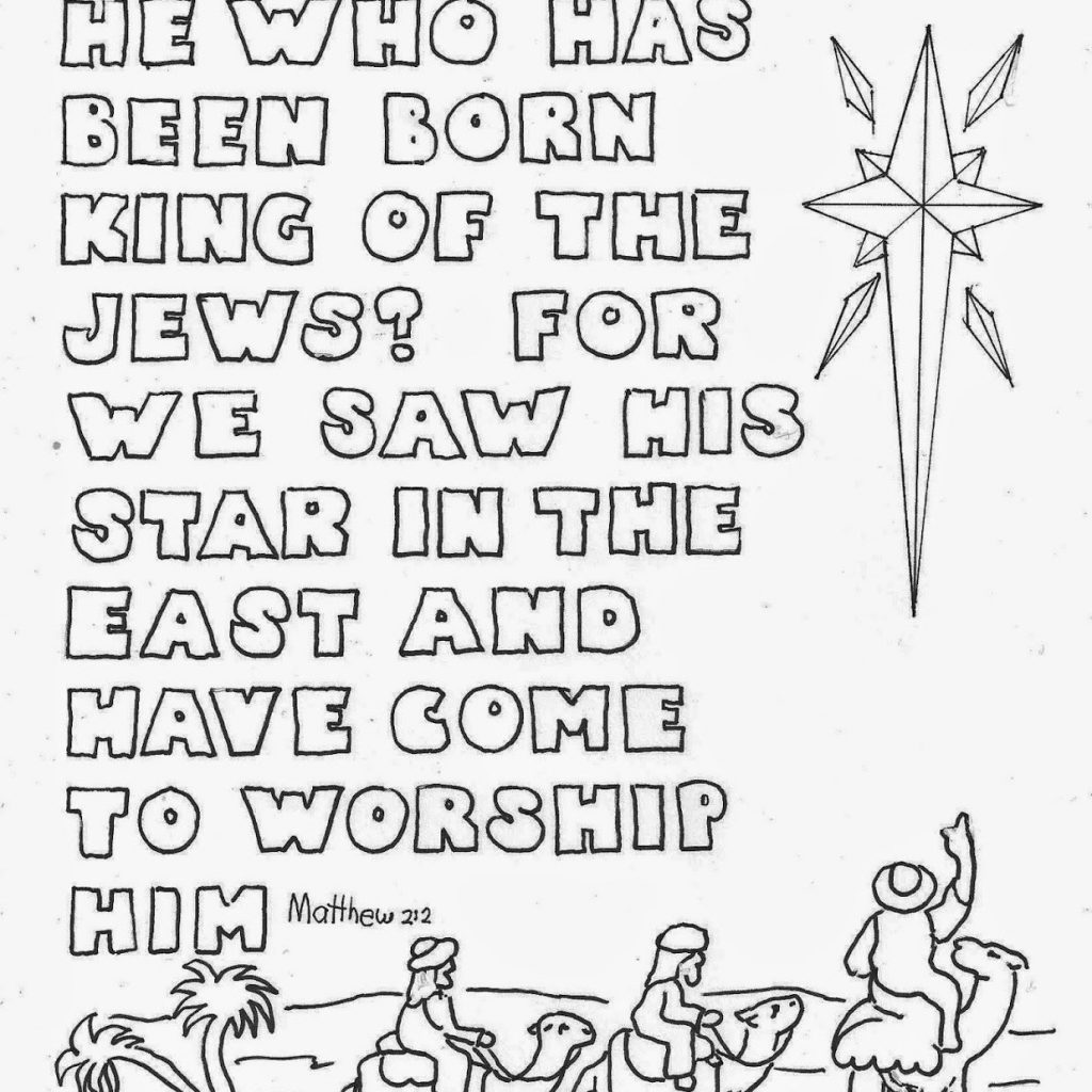 Christmas Religious Coloring Pages With For Kids By Mr Adron Star Wise Men