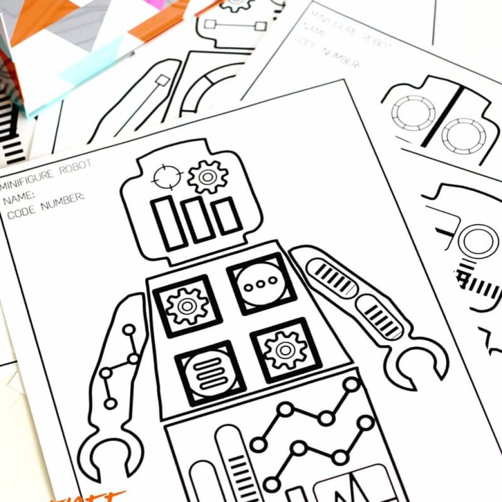 Christmas Robot Coloring Pages With Free Printable Sheets