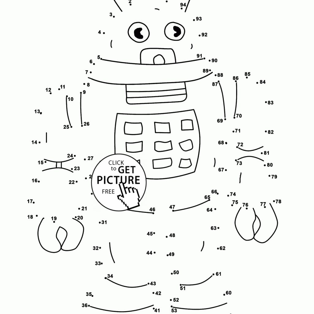 Christmas Robot Coloring Pages With Unique Connect The Dots Collection