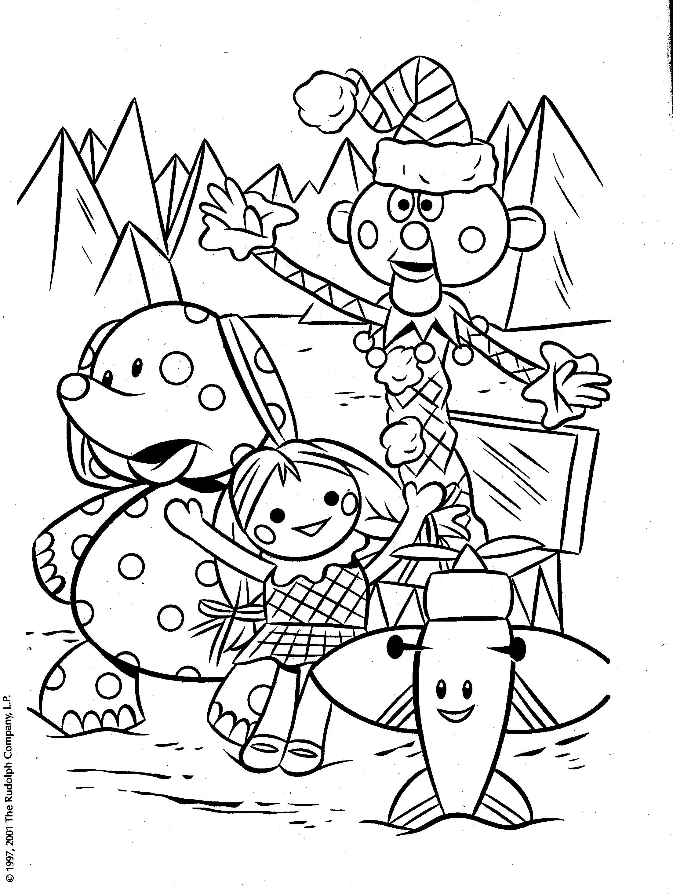 Christmas Rudolph Coloring Pages With Misfit Toys Grammy Picks Pinterest
