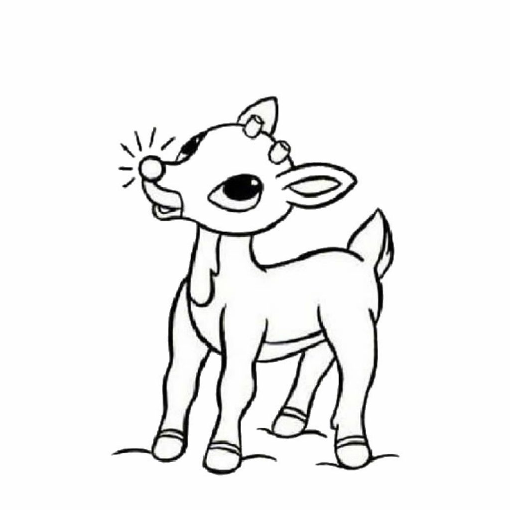 Christmas Rudolph Coloring Pages With The Red Nosed Reindeer Hellokids Com