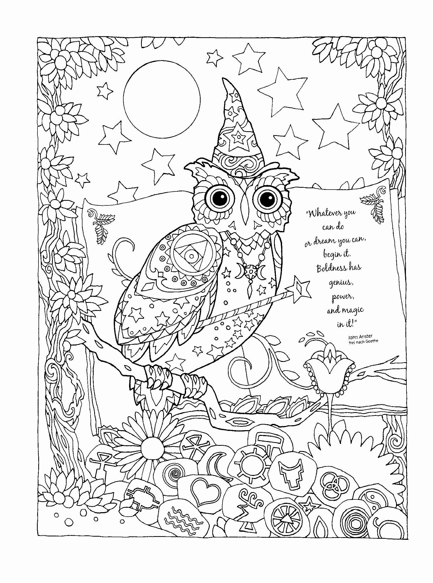 Christmas Santa Hat Coloring Page With Claus Tree