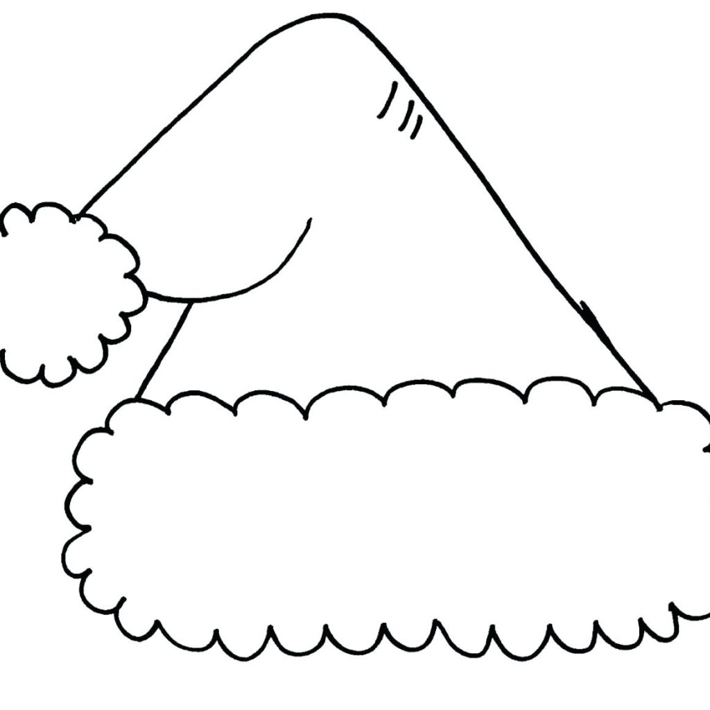 Christmas Santa Hat Coloring Page With Pages Com Lovely