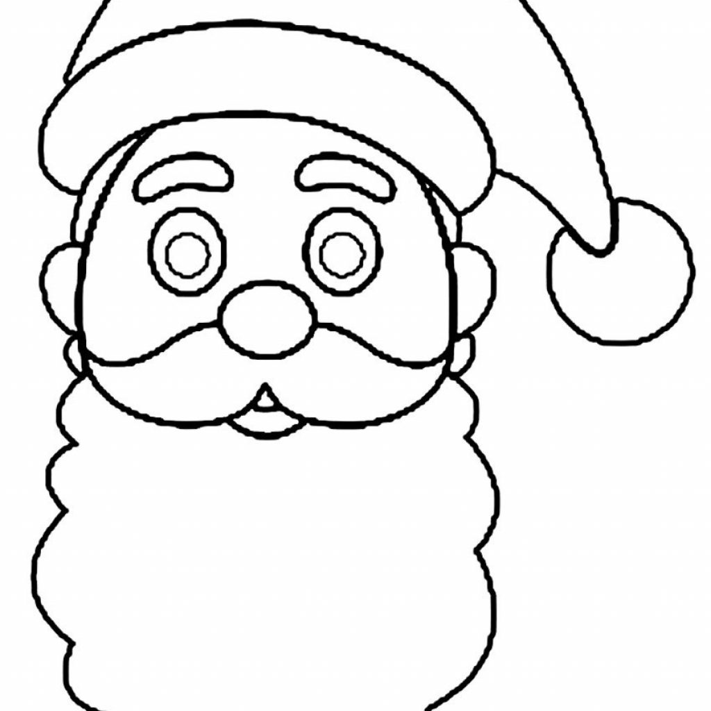 Christmas Santa Hat Coloring Page With Printable Pages For Kids Cool2bKids